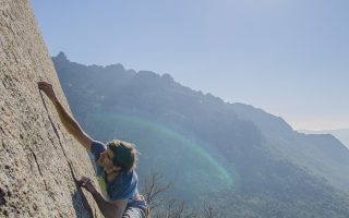 Dani Andrada on a quick repeat of Ron & Brom 8a+ slab in La Pedriza (Spain).