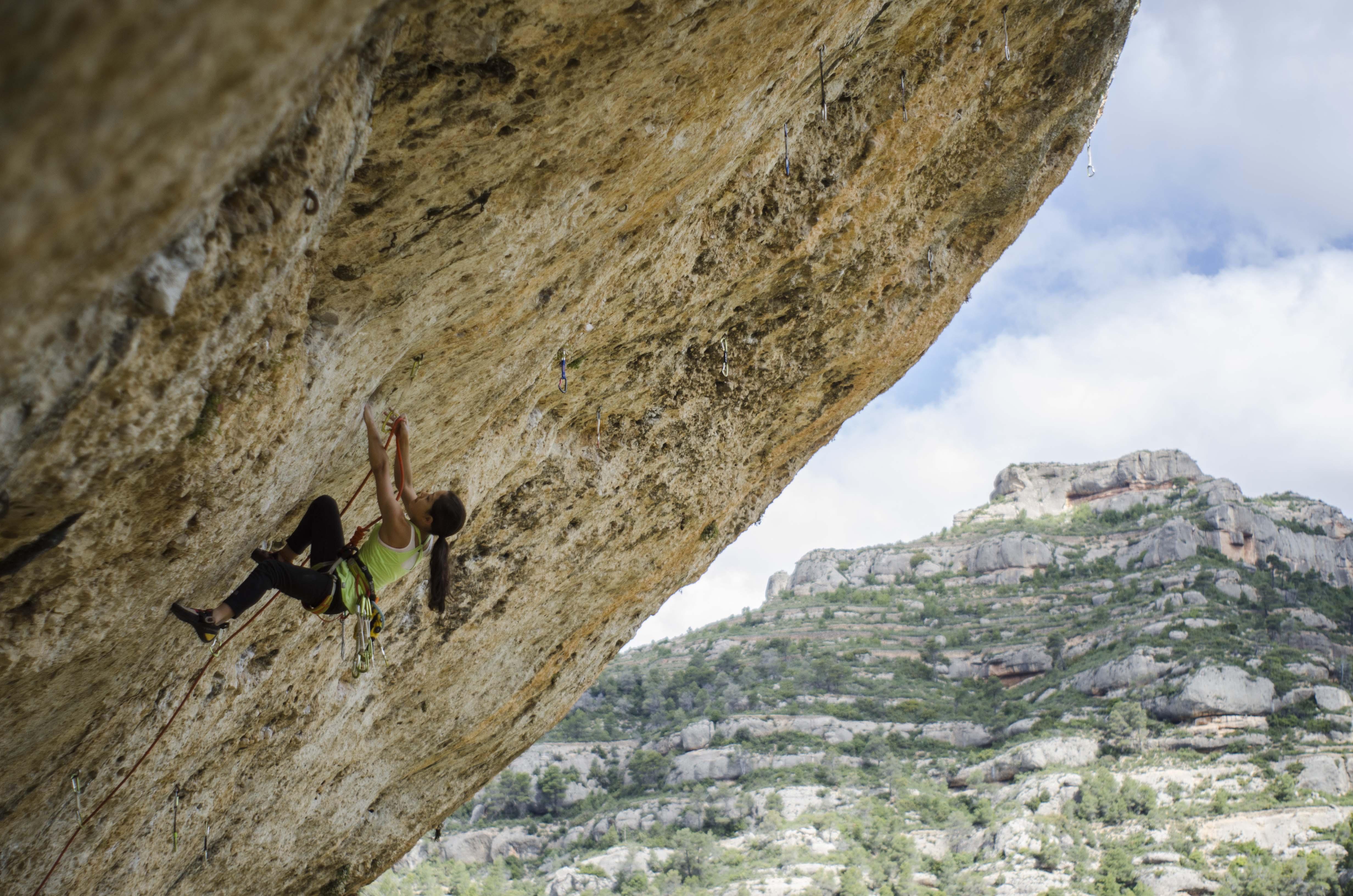The North Face: Angie Scarth-Johnson sending L'Espiademonis 8c, Margalef (Spain).